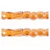 3 Cut Beads 10/0 Transparent Madeira Topaz Luster Strung